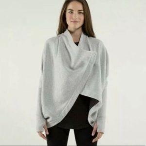 Lululemon Dark Gray Wrap It Up Sweater